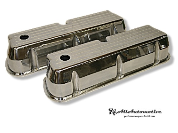 "Ford SB Valve Covers with ""Lines"" Windsor"